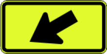 W16-7P Diagonal Arrow Plaque